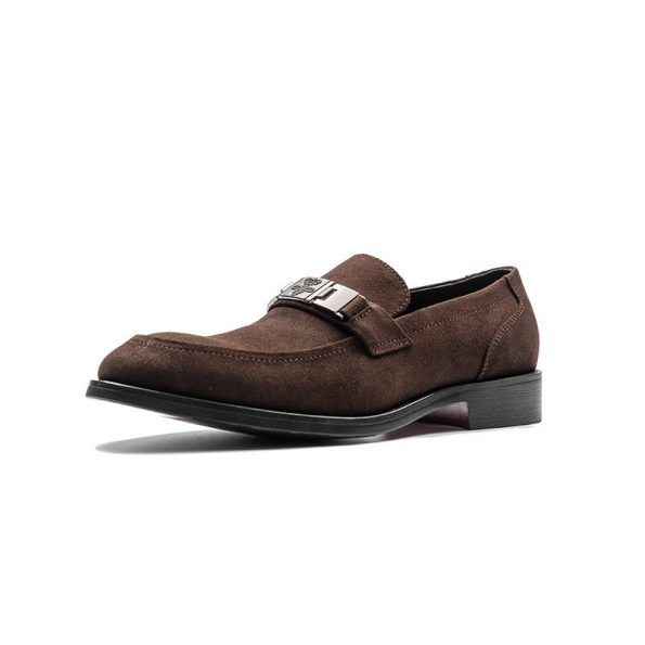 Aax-Fory-shoes-men-suede-loafers-men's-business-leather-square-head-a-pedal-boat-shoes-matte-leather-men's-shoes