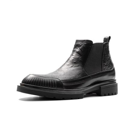 Aax Fory male Martin boots winter boots a round pedal leather boots warm boots tide of England