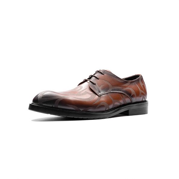 Aax-Fory-leather-shoes,-men's-business-suits-England-carved-Derby-tie-layer-of-leather-shoes-tip