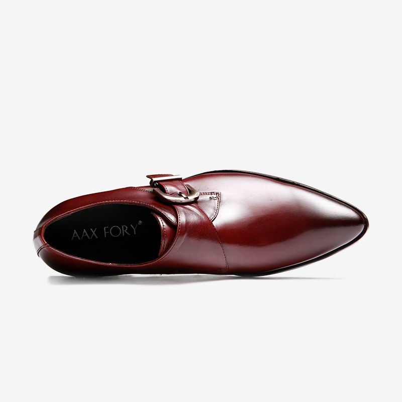 Munch-first-layer-of-leather-shoes,-men-fastener-prongs-plain-Derby-England-tidal-shoes-breathable-business-dress-shoes