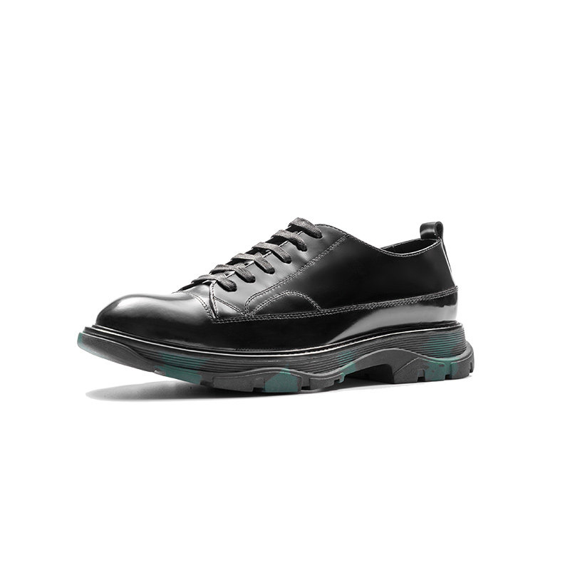 Aax-Fory-casual-shoes-men-shoes-round-tanks-cyberpunk-style-men's-patent-leather-shoes-leather-men's-shoes-tide