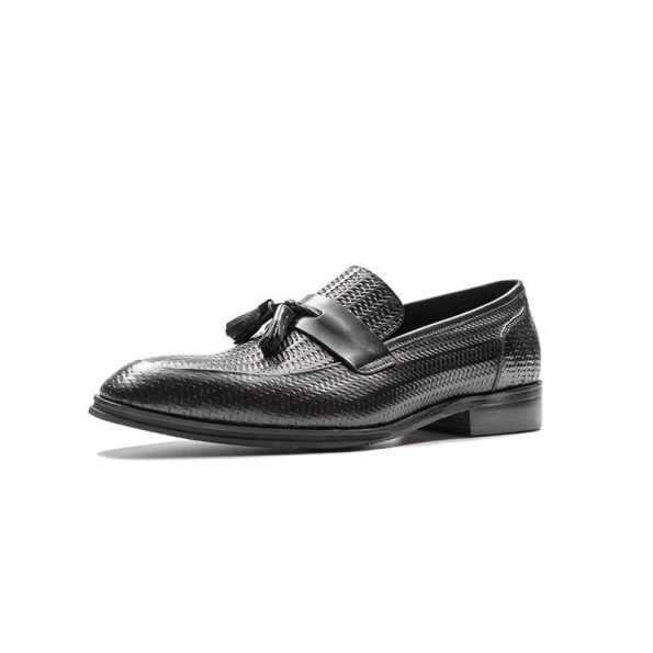 Aax-Fory-new-leather-shoes-men-loafers-business-dress-pedal-a-square-head-men's-shoes-tassels