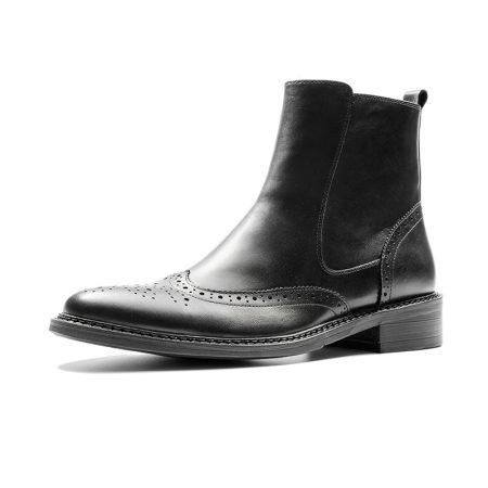 Aax Fory British Lun Mading boots men dress shoes really Pibuluoke Business Chelsea boots zipper boots men