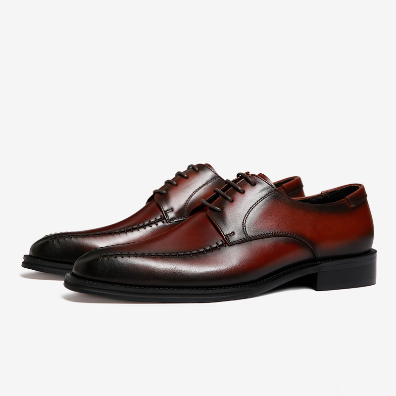 Derby-shoes-men's-shoes-British-retro-leather-square-head-shoes-male-business-men-first-layer-of-leather-shoes-Goodyear