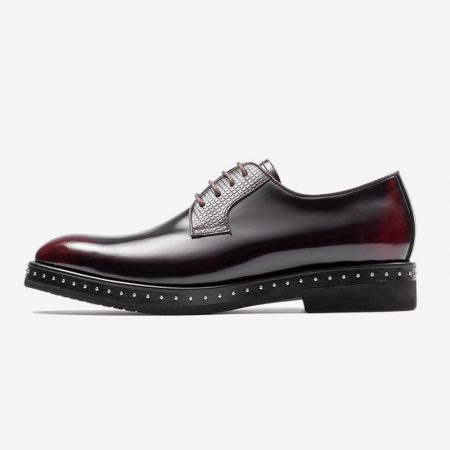 Aax Fory punk shoes male British business casual men's shoes patent leather pointed lace shoes thick crust hairstylist